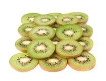 Powierzchnia zakrywająca z kiwifruit plasterkami Fotografia Royalty Free