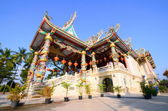 Powierzchowność świątyni chińskie wiary religijne, Thailand Zdjęcie Stock