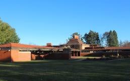 Powierzchowność, Frank Lloyd Wright budynku Wingspread, Racine Wisconsin obraz stock