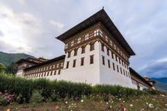 Powierzchowność główny rządowy biuro w Bhutan Obrazy Royalty Free