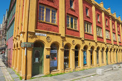 Powierzchowność Hanzeatycki muzealny dziejowy budynek w Bergen, Norwegia Fotografia Stock