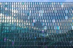 Powierzchowność Harpa filharmonia w Reykjavik, Iceland Obrazy Stock