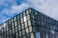 Powierzchowność Harpa filharmonia w Reykjavik, Iceland Zdjęcia Stock
