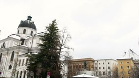Powierzchowność katedra w Salzburg zdjęcie wideo
