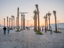 Powierzchowność louvre muzeum w Abu Dhabi obraz royalty free