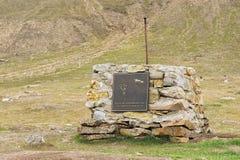 Powierzchowność pomnik John Munro Longyear w Longyearbyen, Norwegia Zdjęcie Stock