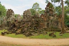Powierzchowność ruiny Krol Ko świątynia w Angkor, Kambodża Zdjęcie Royalty Free