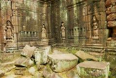 Powierzchowność ruiny Krol Ko świątynia w Angkor, Kambodża Zdjęcie Stock