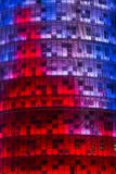 Powierzchowność Torre Agbar budynek, projektująca Jean Nouvel barcelona Catalonia Zdjęcia Stock