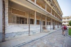 Powierzchowność Tuol Sleng Genoside muzeum, Phnom Penh, Kambodża Zdjęcia Stock