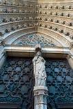 Powierzchowność wejście Barcelona katedra Obraz Royalty Free