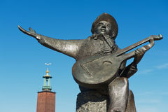 Powierzchowność wynicowywającego Taube rzeźba w Sztokholm, Szwecja Fotografia Stock