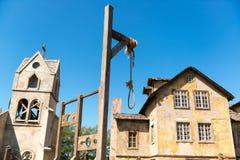 Powieszenia w zaniechanej wiosce zdjęcie royalty free