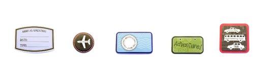 Powietrza, podróży, wakacje odznaki/ Obraz Stock