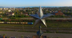 Powietrzna ankieta dworzec zbiory wideo
