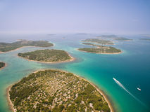 Powietrzna fotografia Adriatycki, Chorwacja Zdjęcia Stock