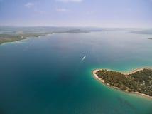 Powietrzna fotografia Adriatycki, Chorwacja Obraz Stock