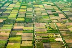 Powietrzna fotografia agro Obrazy Stock