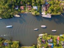 Powietrzna fotografia Alappuzha India zdjęcie royalty free