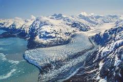 Powietrzna fotografia Alaska lodowa zatoka obrazy royalty free