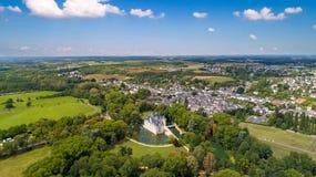 Powietrzna fotografia azay Le Rideau kasztel zdjęcia royalty free