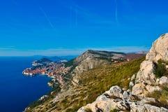 Widok Dubrovnik fotografia royalty free
