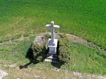 Powietrzna fotografia kamienny calvary w Vendee fotografia stock