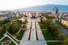 Powietrzna fotografia Krajowy pałac kultura w Sofia zdjęcia royalty free