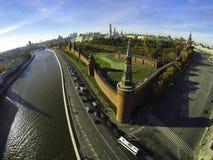 Powietrzna fotografia Kremlin, Moskwa, Rosja Obraz Royalty Free