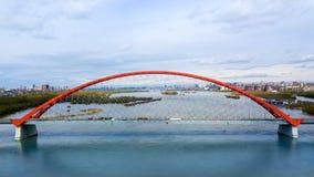 Powietrzna fotografia most obrazy stock
