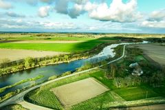 Powietrzna fotografia nad wieś obrazy royalty free