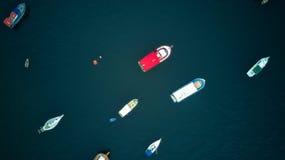Powietrzna fotografia łodzie w Rio De Janeiro Obraz Royalty Free