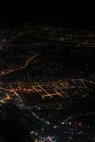 Powietrzna fotografia przy nocą Obrazy Stock