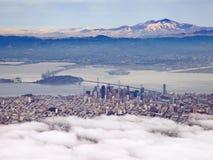 Powietrzna fotografia San Fransisco i Podpalany teren Obraz Stock