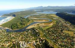 Powietrzna fotografia Sedgefield, Ogrodowa trasa, Południowa Afryka Zdjęcia Stock