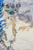 Powietrzna fotografia Yellowstone parka mamut obrazy stock