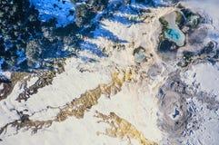 Powietrzna fotografia Yellowstone parka mamut fotografia royalty free