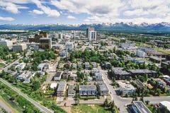 Powietrzna fotografia zakotwienie Alaska fotografia stock