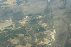 Powietrzna fotografia ziemia uprawna w Południowa Afryka blisko do Kapsztad, rolnictwo w Africa Zdjęcia Royalty Free
