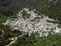 powietrzna grecka wioska zdjęcia stock