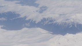 Powietrzna i wideo strzelanina nakrywać Kaukaskie góry od samolotu zdjęcie wideo