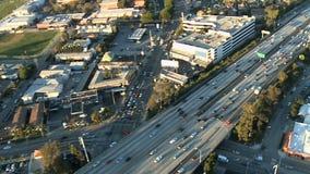 Powietrzna losu angeles 101 autostrada zdjęcie wideo