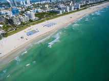 Powietrzna Miami plaża Fotografia Royalty Free