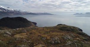 Powietrzna niecka Nad Holmanes UHD 4K trutniem Iceland zbiory