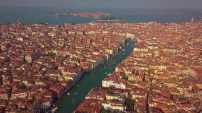 Powietrzna orbita nad San marco kwadratem przy wschód słońca w Venice Italy zdjęcie wideo