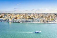 Powietrzna panorama Brindisi, Puglia, Włochy obraz stock