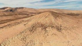 Powietrzna panorama Costa Calma plaża, Fuerteventura zdjęcie wideo