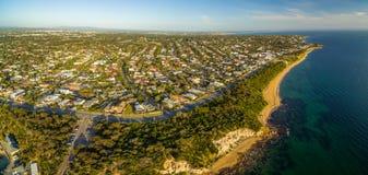 Powietrzna panorama czerni skały przedmieście, Melbourne, Australia Zdjęcia Royalty Free