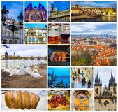 Powietrzna panorama dachy przy starym grodzkim Praga, republika czech Obraz Royalty Free