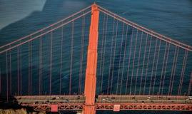Powietrzna perspektywa Golden Gate Bridge w San Fransisco Obrazy Royalty Free